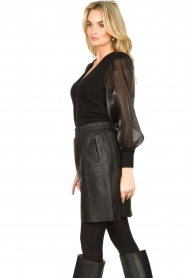 Dante 6 |  Sweater with see-through sleeves Joelle | black  | Picture 6