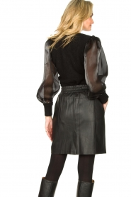 Dante 6 |  Sweater with see-through sleeves Joelle | black  | Picture 7