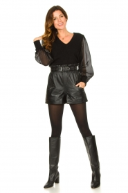 Dante 6 |  Sweater with see-through sleeves Joelle | black  | Picture 3
