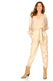 Dante 6 |  Sweater with see-through sleeves Joelle | natural  | Picture 3