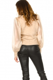 Dante 6 |  Sweater with see-through sleeves Joelle | natural  | Picture 7