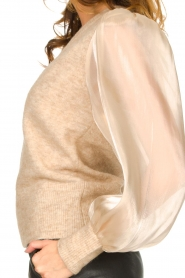 Dante 6 |  Sweater with see-through sleeves Joelle | natural  | Picture 8