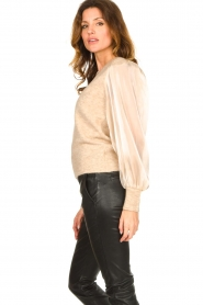 Dante 6 |  Sweater with see-through sleeves Joelle | natural  | Picture 6