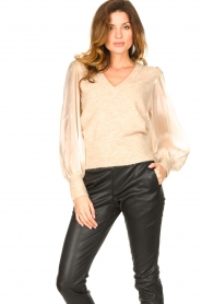 Dante 6 |  Sweater with see-through sleeves Joelle | natural  | Picture 2