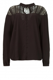 Dante 6 |  Blouse with cutwork embroidery Camdyn black  | Picture 1
