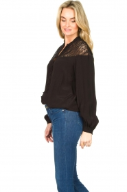 Dante 6 |  Blouse with cutwork embroidery Camdyn black  | Picture 5