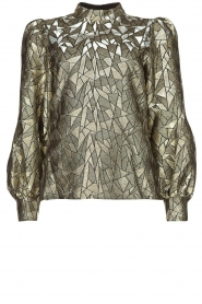 Dante 6 |  Jacquard blouse with Doyes | gold  | Picture 1