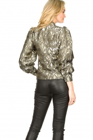 Dante 6 |  Jacquard blouse with Doyes | gold  | Picture 6