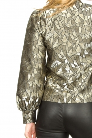 Dante 6 |  Jacquard blouse with Doyes | gold  | Picture 7