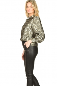 Dante 6 |  Jacquard blouse with Doyes | gold  | Picture 5
