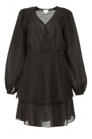 Dante 6 |  Dress with ruffles Victorine | black  | Picture 1
