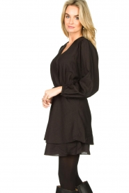 Dante 6 |  Dress with ruffles Victorine | black  | Picture 5