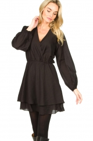 Dante 6 |  Dress with ruffles Victorine | black  | Picture 4