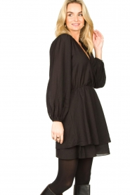 Dante 6 |  Dress with ruffles Victorine | black  | Picture 2