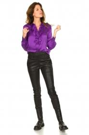 Dante 6 |  Blouse with ruffles Sylvian | purple  | Picture 3