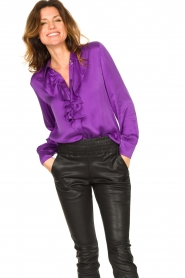 Dante 6 |  Blouse with ruffles Sylvian | purple  | Picture 2