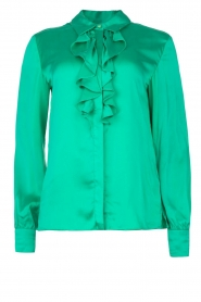 Dante 6 |  Blouse with ruffles Sylvian | green  | Picture 1