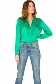 Dante 6 |  Blouse with ruffles Sylvian | green  | Picture 4