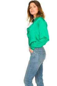 Dante 6 |  Blouse with ruffles Sylvian | green  | Picture 5