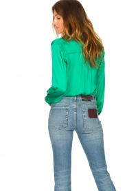 Dante 6 |  Blouse with ruffles Sylvian | green  | Picture 6