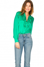 Dante 6 |  Blouse with ruffles Sylvian | green  | Picture 2