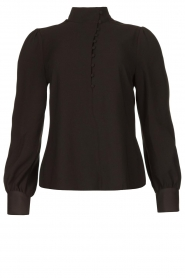 Dante 6 |  Blouse with puff sleeves Nascha | black  | Picture 1