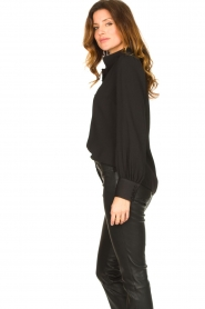 Dante 6 |  Blouse with puff sleeves Nascha | black  | Picture 5