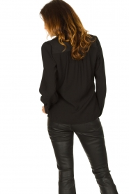 Dante 6 |  Blouse with puff sleeves Nascha | black  | Picture 6