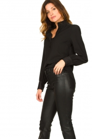 Dante 6 |  Blouse with puff sleeves Nascha | black  | Picture 4