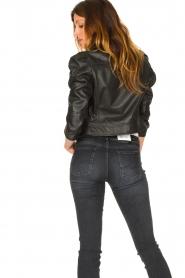 Dante 6 |  Cropped leather biker jacket Jae | black  | Picture 6