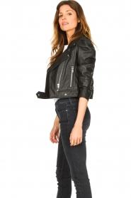 Dante 6 |  Cropped leather biker jacket Jae | black  | Picture 5