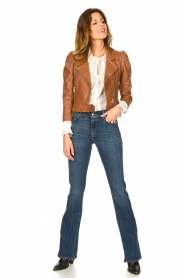 Dante 6 |  Cropped leather biker jacket Jae | brown  | Picture 3