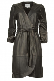 Dante 6 |  Leather wrap dress Desire | black  | Picture 1