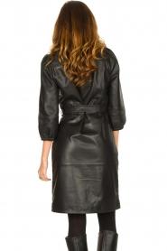 Dante 6 |  Leather wrap dress Desire | black  | Picture 6