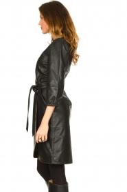Dante 6 |  Leather wrap dress Desire | black  | Picture 5