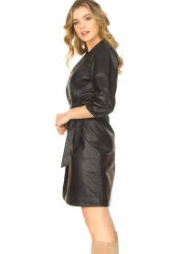 Dante 6 |  Leather wrap dress Desire | black  | Picture 5