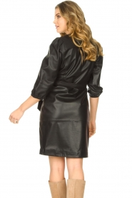 Dante 6 |  Leather wrap dress Desire | black  | Picture 7