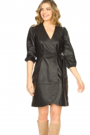 Dante 6 |  Leather wrap dress Desire | black  | Picture 6