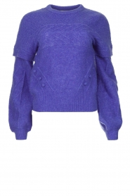 Dante 6 |  Knitted cable sweater Oakly | purple  | Picture 1