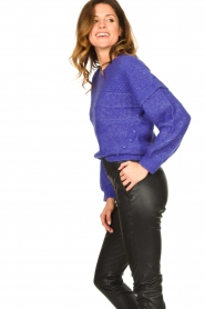 Dante 6 |  Knitted cable sweater Oakly | purple  | Picture 5