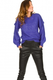 Dante 6 |  Knitted cable sweater Oakly | purple  | Picture 2