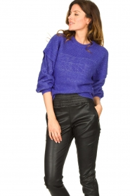 Dante 6 |  Knitted cable sweater Oakly | purple  | Picture 4