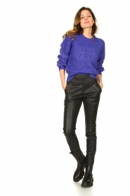 Dante 6 |  Knitted cable sweater Oakly | purple  | Picture 3