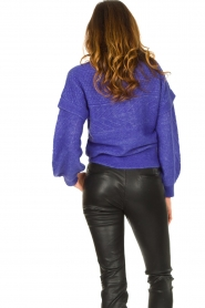 Dante 6 |  Knitted cable sweater Oakly | purple  | Picture 6
