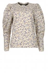 Dante 6 |  Floral cotton sweater Cloud | blue  | Picture 1