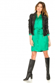 Dante 6 |  Silk stretch dress Parisa | green  | Picture 3