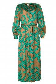 Dante 6 |  Monogram printed maxi dress Magnify | green  | Picture 1