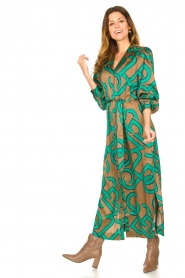 Dante 6 |  Monogram printed maxi dress Magnify | green  | Picture 2
