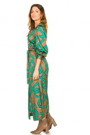 Dante 6 |  Monogram printed maxi dress Magnify | green  | Picture 4