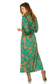 Dante 6 |  Monogram printed maxi dress Magnify | green  | Picture 5